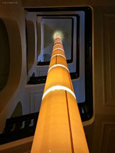 Lichtstrahl im Treppenhaus
