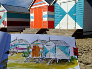 Brighton`s exklusive Strandkabinen